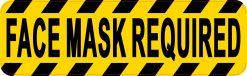 Face Mask Required Vinyl Sticker
