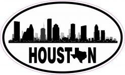 Skyline Oval Houston Texas Vinyl Sticker