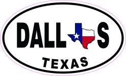 Oval Dallas Texas Vinyl Sticker