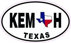 Oval Kemah Texas Vinyl Sticker