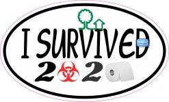 Oval I Survived 2020 Vinyl Sticker