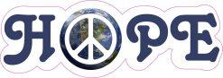 Peace on Earth Hope Vinyl Sticker