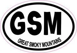 Oval GSM Great Smoky Mountains Vinyl Sticker