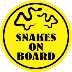 Snakes on Board Vinyl Sticker