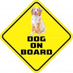 Australian Shepherd Dog on Board Vinyl Sticker