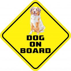 Australian Shepherd Dog on Board Magnet