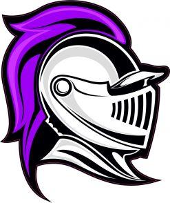 Purple Knight Mascot Vinyl Sticker