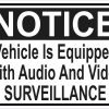 Vehicle Equipped with Audio and Video Surveillance Vinyl Sticker