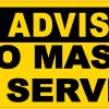 No Mask No Service Vinyl Sticker