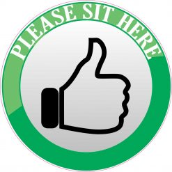 Please Sit Here sticker