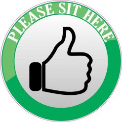 Please Sit Here Vinyl Sticker