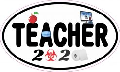 Biohazard Teacher 2020 Vinyl Sticker