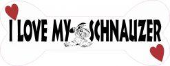 Dog Bone I Love My Schnauzer Vinyl Sticker