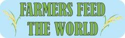 Rice Farmers Feed the World Vinyl Sticker