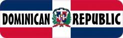 Labeled Dominican Republic Flag Vinyl Sticker