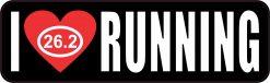 Marathon I Love Running Magnet