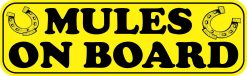 Mules on Board Magnet