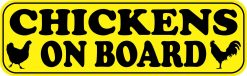 Chickens on Board Magnet