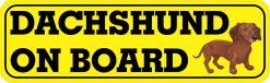 Dachshund on Board Magnet