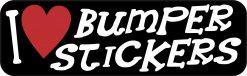 I Love Bumper Stickers Vinyl Sticker