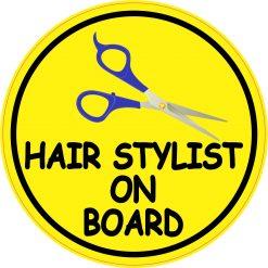 Hair Stylist on Board Vinyl Sticker