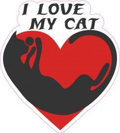 I Love My Cat Vinyl Sticker