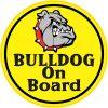 Red Bulldog on Board Vinyl Sticker