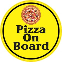 Pizza on Board Vinyl Sticker