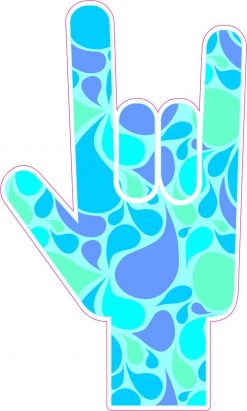 Paisley ASL I Love You Vinyl Sticker