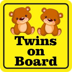 Girl Twins on Board Magnet