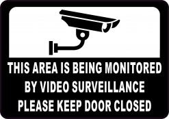 Video Surveillance Vinyl Sticker