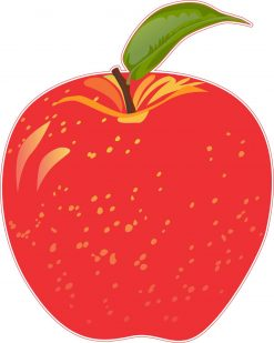 Red Apple Vinyl Sticker
