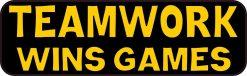 Teamwork Wins Games Vinyl Sticker