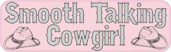 Smooth Talking Cowgirl Vinyl Sticker