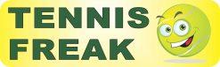 Tennis Freak Vinyl Sticker