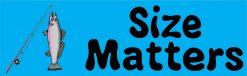 Blue Fishing Size Matters Vinyl Sticker