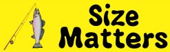 Yellow Fishing Size Matters Sticker
