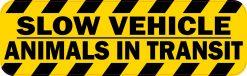 Slow Vehicle Animals in Transit Vinyl Sticker