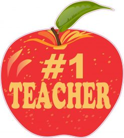 Number 1 Teacher Vinyl Sticker