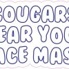 Cougars Wear Your Face Mask Vinyl Sticker