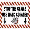 Bulldog Mascot Use Hand Cleaner Vinyl Sticker