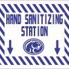 Cougar Mascot Hand Sanitizing Station Vinyl Sticker
