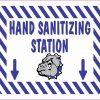 Bulldog Hand Sanitizing Station Vinyl Sticker