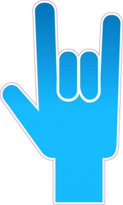 Blue Gradient ASL I Love You Vinyl Sticker