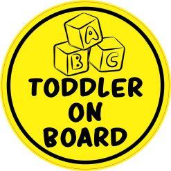 Toddler on Board Vinyl Sticker