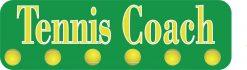 Tennis Coach Vinyl Sticker