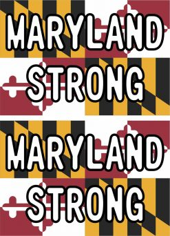 Maryland Strong Vinyl Stickers