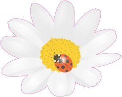 Ladybug and Daisy Vinyl Sticker