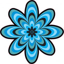 Blue Flower Vinyl Sticker