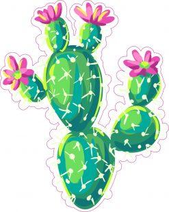 Flowering Cactus Vinyl Sticker
